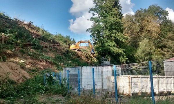 Coteau « Sous le vent » : les travaux forestiers ont démarré au-dessus de la Zone La Fougère