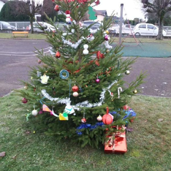 Bientôt Noël : les enfants décorent les sapins