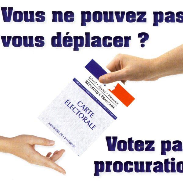 Vous ne pouvez pas vous déplacer pour voter le jour de l'élection ? Votez par procuration !
