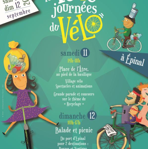 Les folles journées du vélo à EPINAL les 11 et 12 septembre 2021