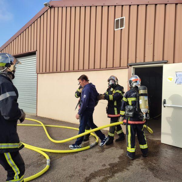 Une manoeuvre des pompiers à Chavelot